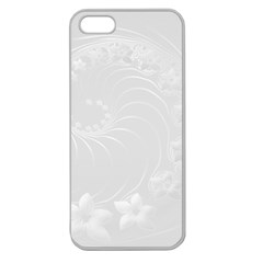Light Gray Abstract Flowers Apple Seamless iPhone 5 Case (Clear)