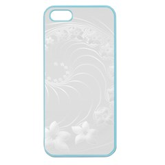 Light Gray Abstract Flowers Apple Seamless iPhone 5 Case (Color)