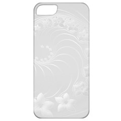 Light Gray Abstract Flowers Apple iPhone 5 Classic Hardshell Case