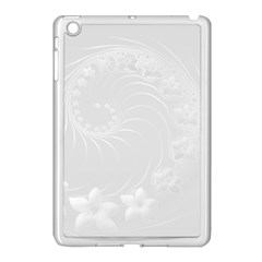 Light Gray Abstract Flowers Apple Ipad Mini Case (white)