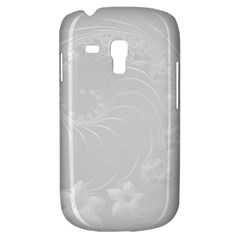 Light Gray Abstract Flowers Samsung Galaxy S3 Mini I8190 Hardshell Case