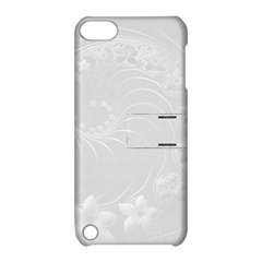 Light Gray Abstract Flowers Apple iPod Touch 5 Hardshell Case with Stand