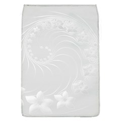 Light Gray Abstract Flowers Removable Flap Cover (large)