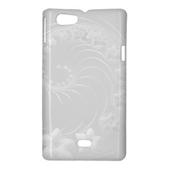 Light Gray Abstract Flowers Sony Xperia Miro Hardshell Case