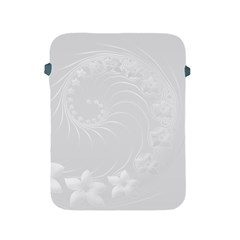 Light Gray Abstract Flowers Apple Ipad 2/3/4 Protective Soft Case