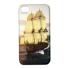 French Warship Apple Iphone 4/4s Hardshell Case With Stand