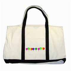 Balloons Two Toned Tote Bag