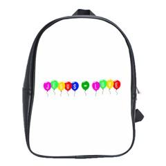 Balloons School Bag (large)