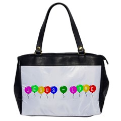 Balloons Oversize Office Handbag (one Side)