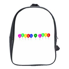 Balloons School Bag (XL)