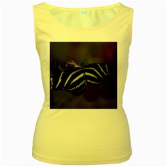 Butterfly 059 001 Womens  Tank Top (Yellow)