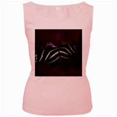 Butterfly 059 001 Womens  Tank Top (pink)