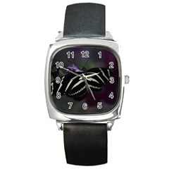 Butterfly 059 001 Square Leather Watch