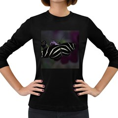 Butterfly 059 001 Womens' Long Sleeve T Shirt (dark Colored)
