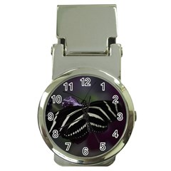 Butterfly 059 001 Money Clip with Watch