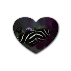 Butterfly 059 001 Drink Coasters 4 Pack (Heart)