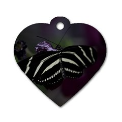 Butterfly 059 001 Dog Tag Heart (Two Sided)
