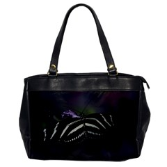 Butterfly 059 001 Oversize Office Handbag (one Side)