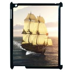 French Warship Apple iPad 2 Case (Black)