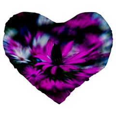 wild flower and rose background 19  Premium Heart Shape Cushion