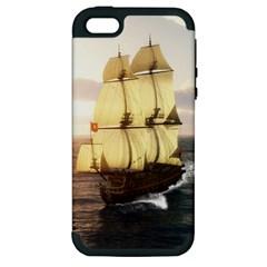 French Warship Apple Iphone 5 Hardshell Case (pc+silicone)