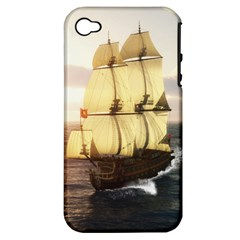 French Warship Apple iPhone 4/4S Hardshell Case (PC+Silicone)