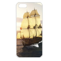 French Warship Apple iPhone 5 Seamless Case (White)