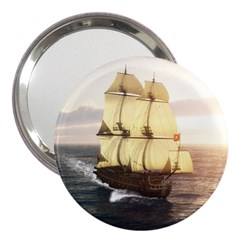 French Warship 3  Handbag Mirror