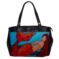 Red Mermaid Leather Like Handbag