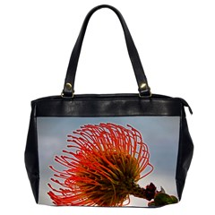 pincushion flower,s Oversize Office Handbag (Two Sides)