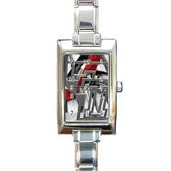 TT RED HEELS Rectangular Italian Charm Watch