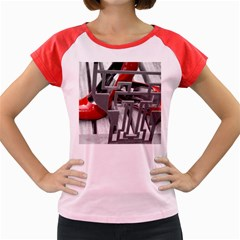 TT RED HEELS Women s Cap Sleeve T-Shirt (Colored)