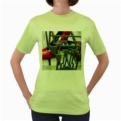 TT RED HEELS Womens  T-shirt (Green)