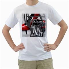 TT RED HEELS Mens  T-shirt (White)