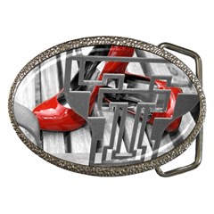 TT RED HEELS Belt Buckle (Oval)