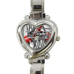 TT RED HEELS Heart Italian Charm Watch