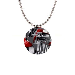 Tt Red Heels Button Necklace