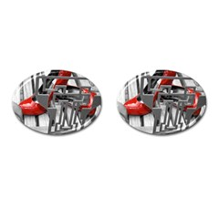 TT RED HEELS Cufflinks (Oval)
