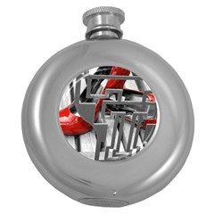 Tt Red Heels Hip Flask (round)