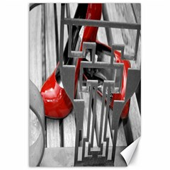 TT RED HEELS Canvas 12  x 18  (Unframed)