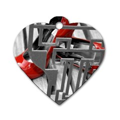 TT RED HEELS Dog Tag Heart (One Sided)
