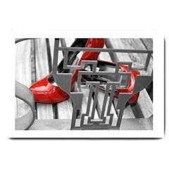 Tt Red Heels Large Door Mat