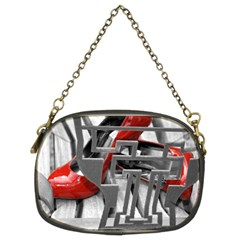 Tt Red Heels Chain Purse (two Side)