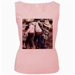 Cowboys Womens  Tank Top (pink)