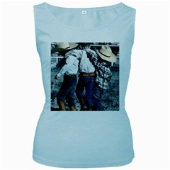 COWBOYS Womens  Tank Top (Baby Blue)