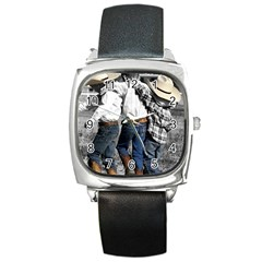 Cowboys Square Leather Watch