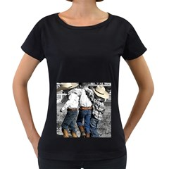 Cowboys Womens' Maternity T Shirt (black)
