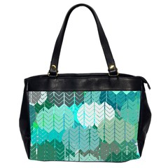 Chevrons Oversize Office Handbag (Two Sides)