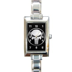 The Punisher Wallpaper  Rectangular Italian Charm Watch