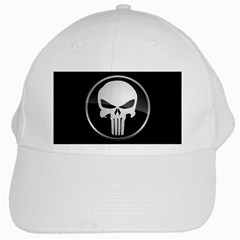 The Punisher Wallpaper  White Baseball Cap
